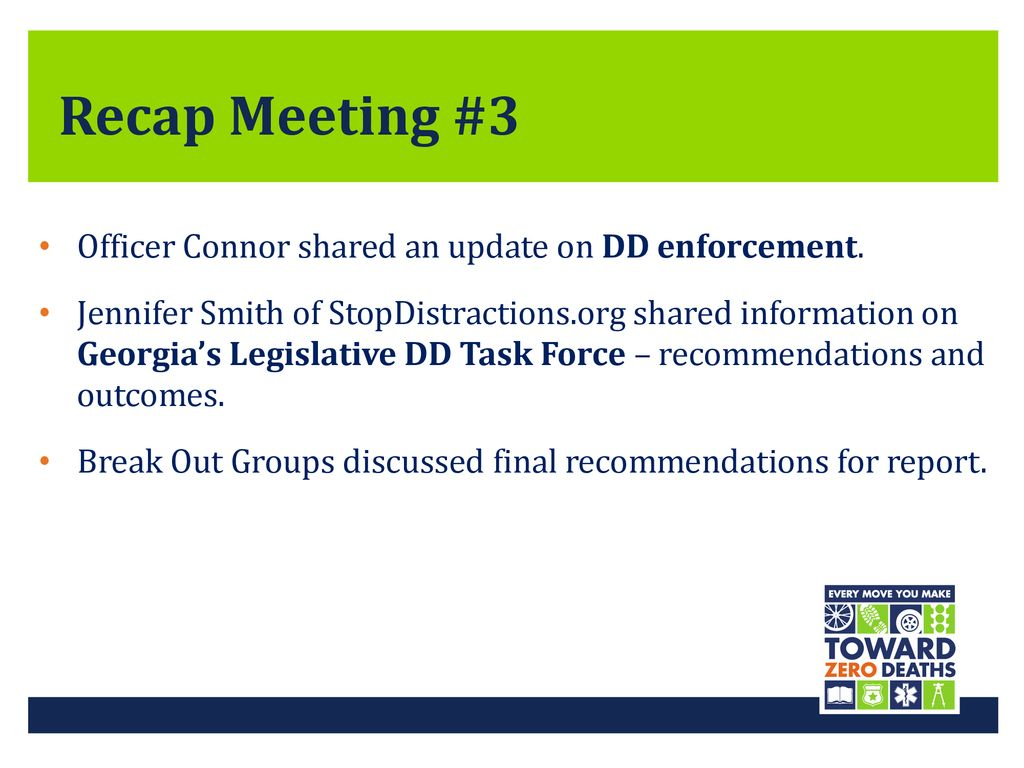 Distracted Driving Task Force August 14, ppt download