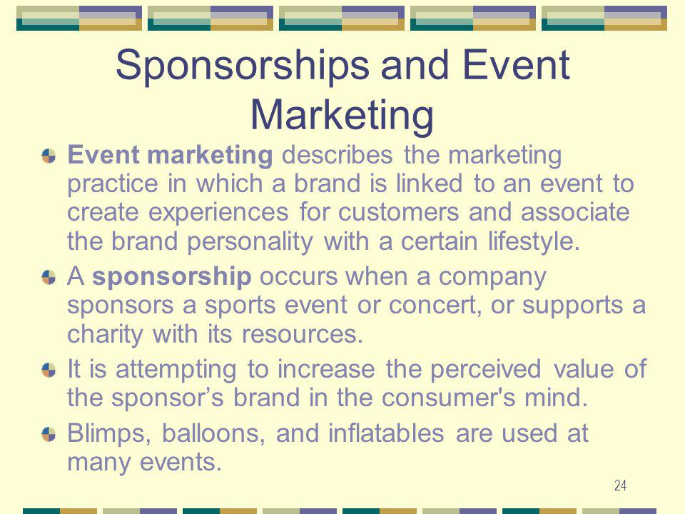 Sponsorships and Event Marketing