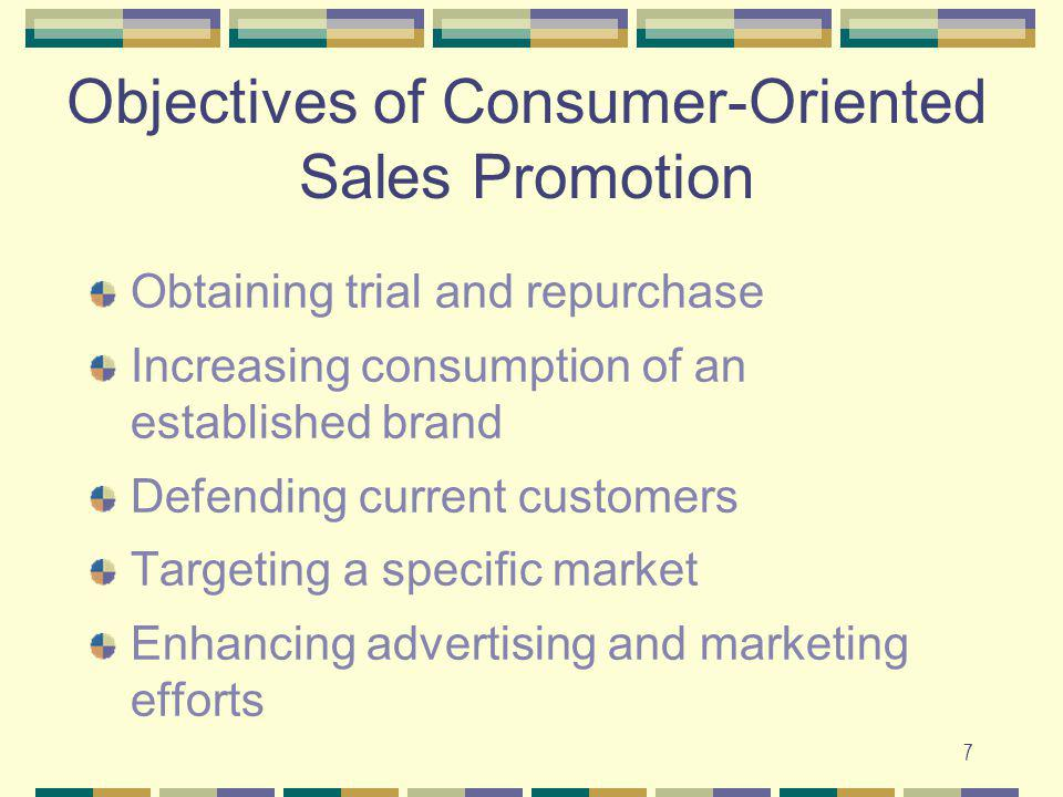 Objectives of Consumer-Oriented Sales Promotion