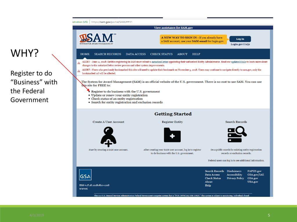 SAM-System for Award Management - ppt download