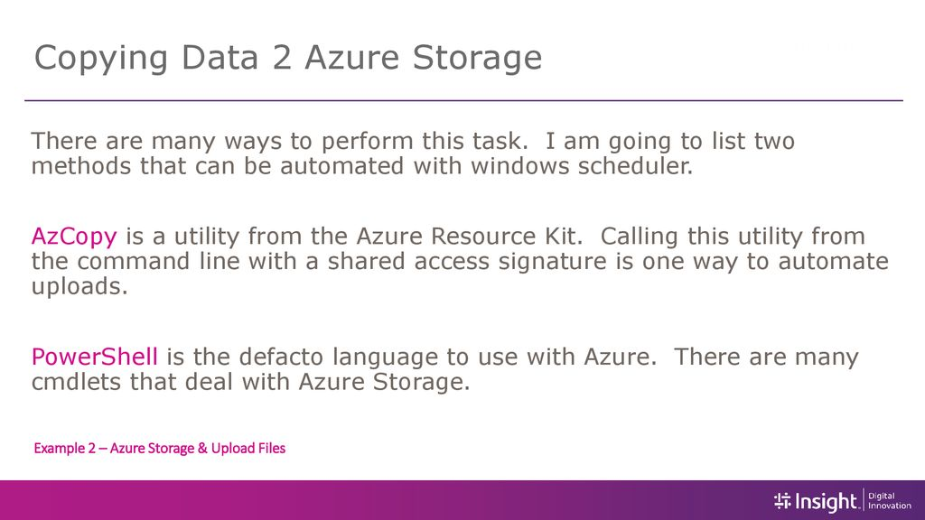 Staging Data for Azure SQL Services - ppt download