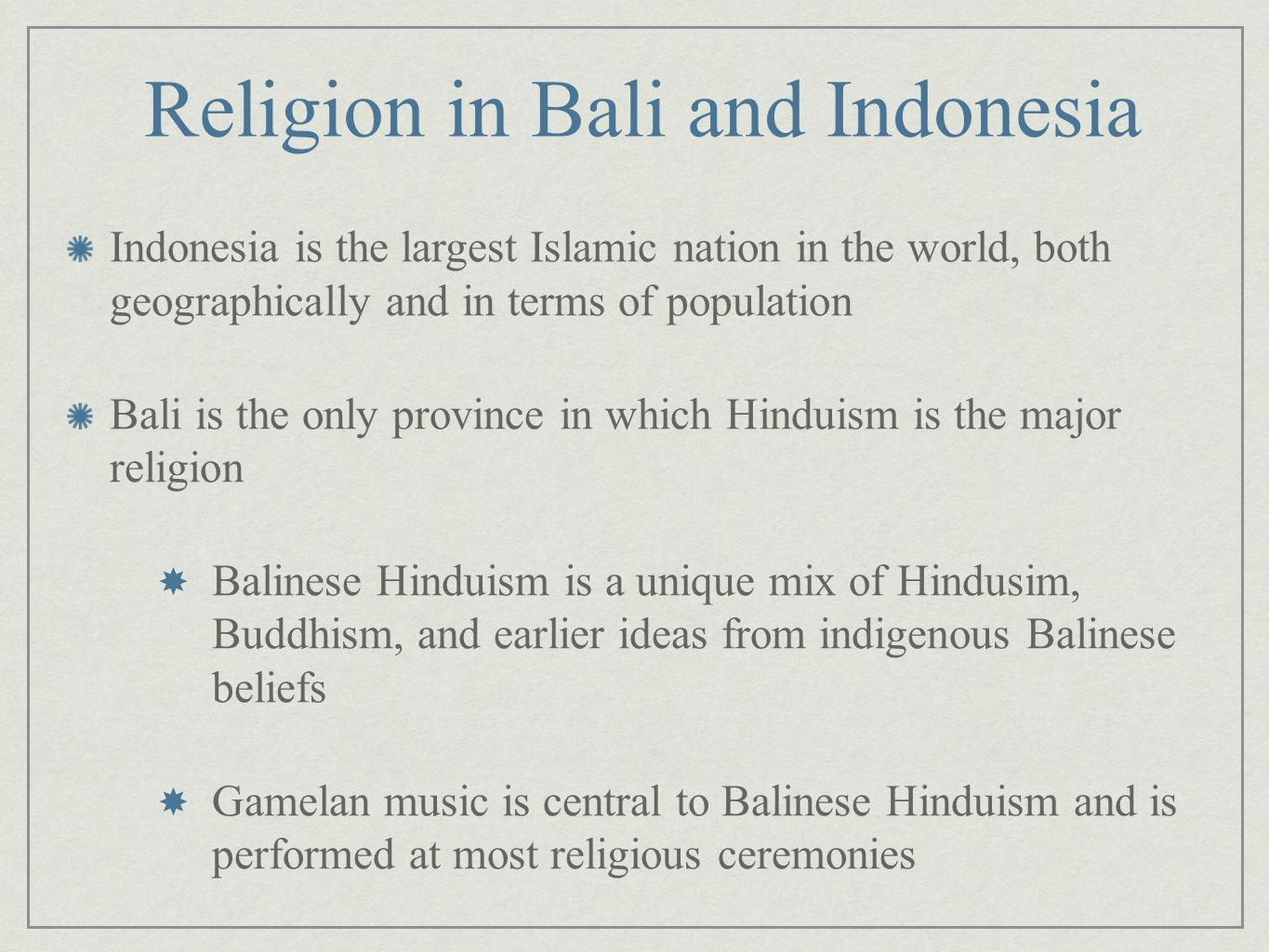 Religion in Bali and Indonesia