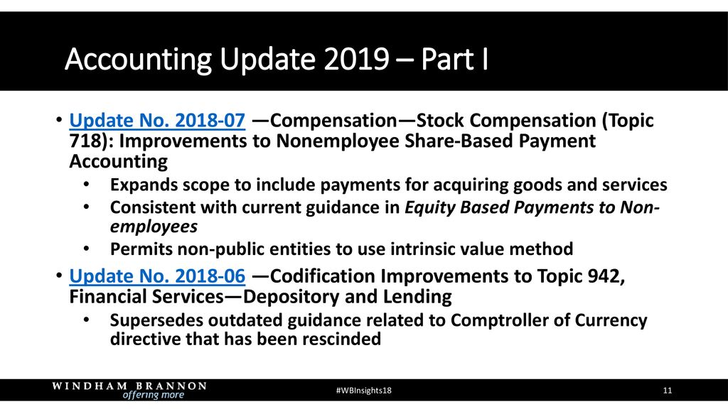 Accounting Update 2019 Part I - ppt download