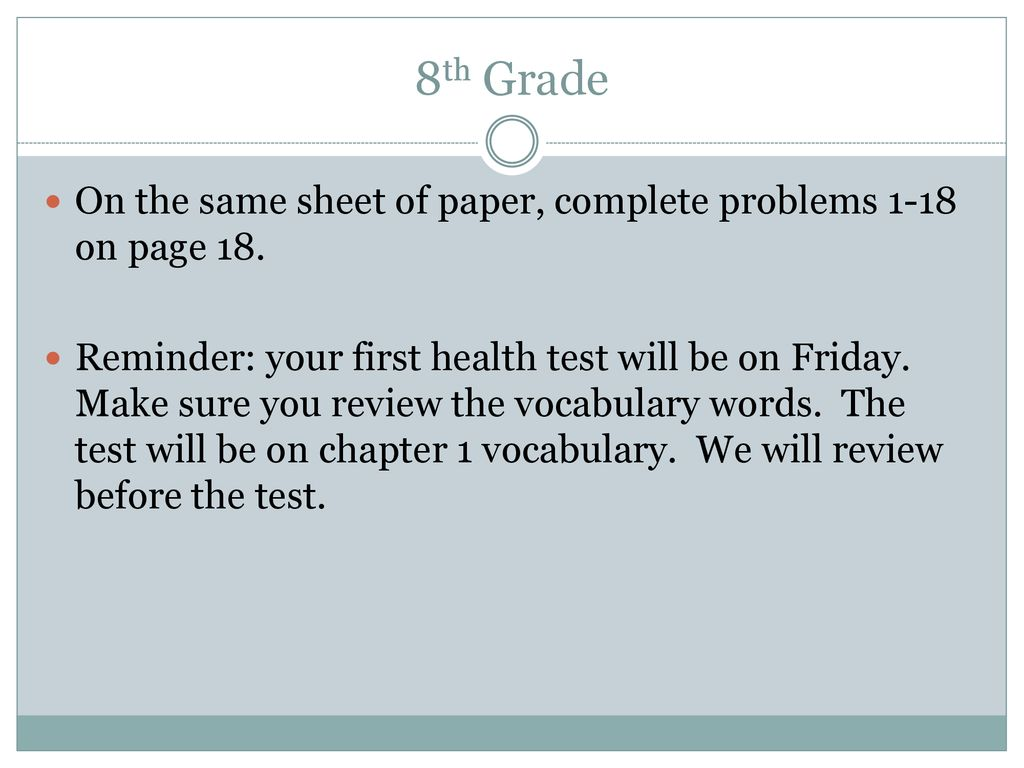 Chapter 1 Review TEST ON FRIDAY  - ppt download