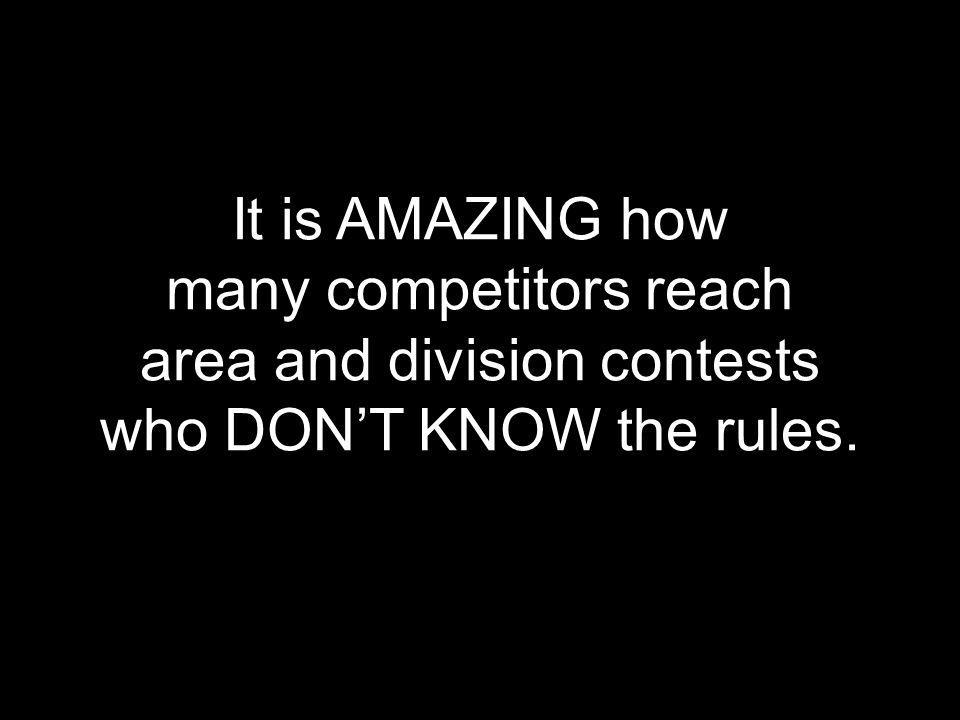 many competitors reach area and division contests