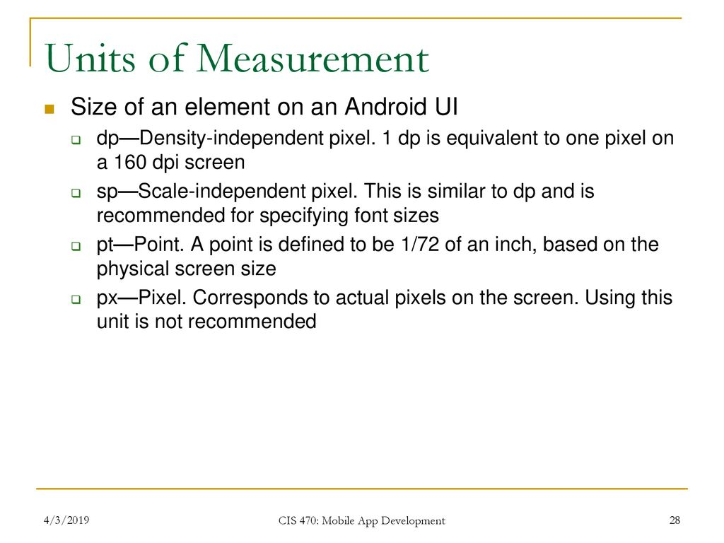 CIS 493/EEC 492 Android Sensor Programming - ppt download
