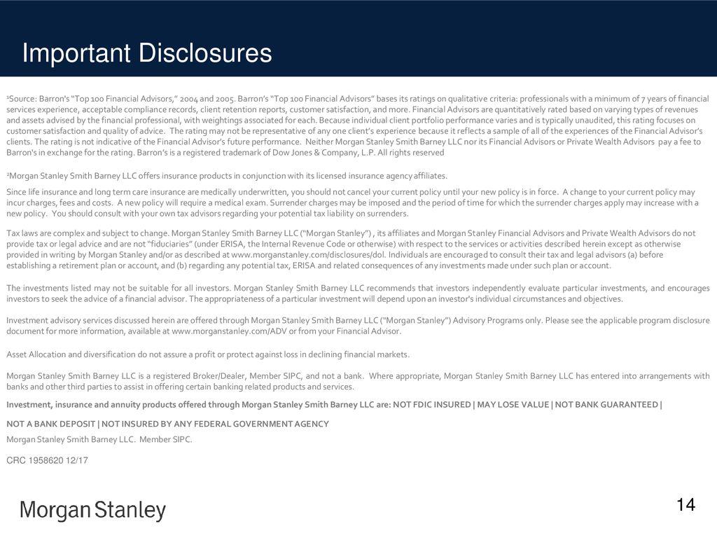 The Snyder-Ervin Group at Morgan Stanley - ppt download