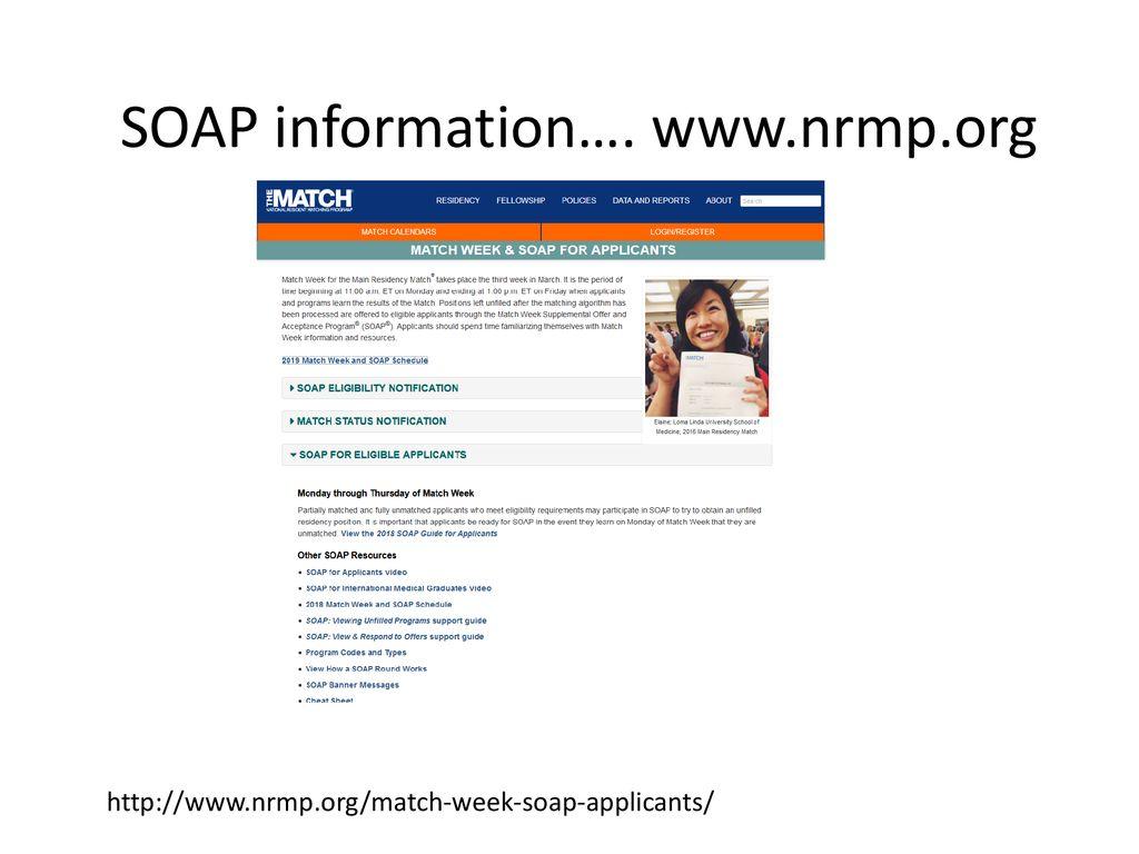 Nrmp soap data