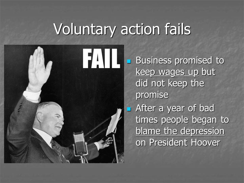 Voluntary action fails