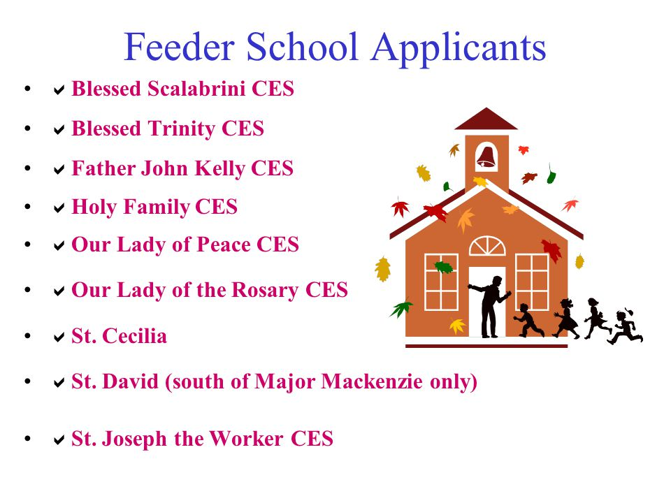 Feeder School Applicants