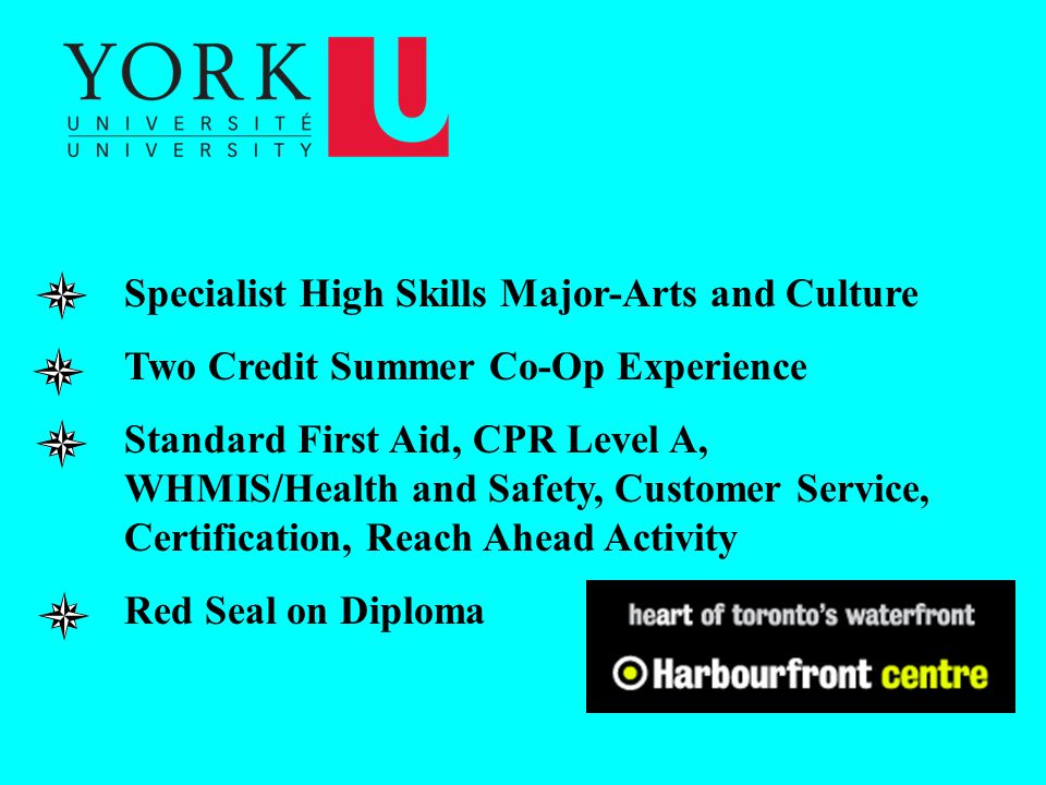 Specialist High Skills Major-Arts and Culture