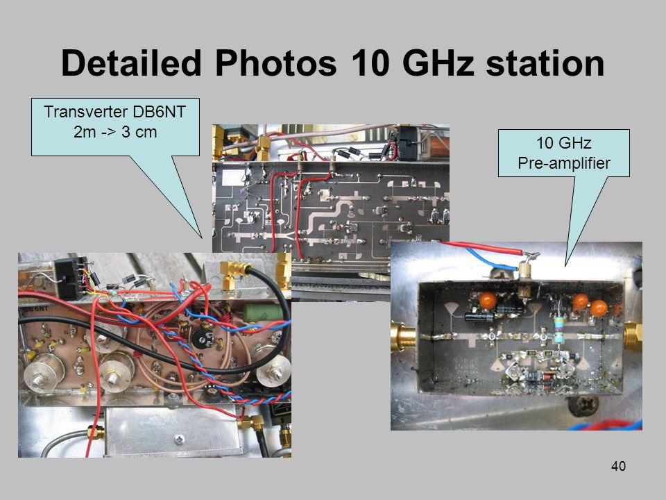 Detailed Photos 10 GHz station