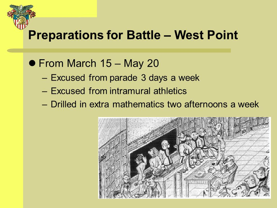Preparations for Battle – West Point