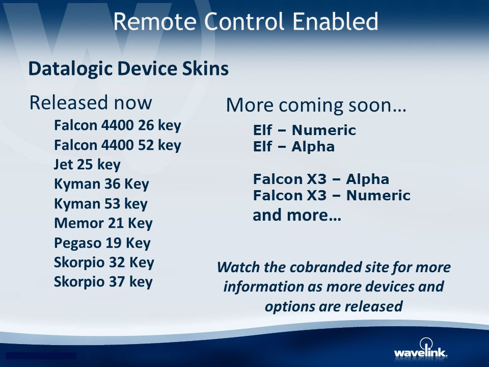 Remote Control Enabled