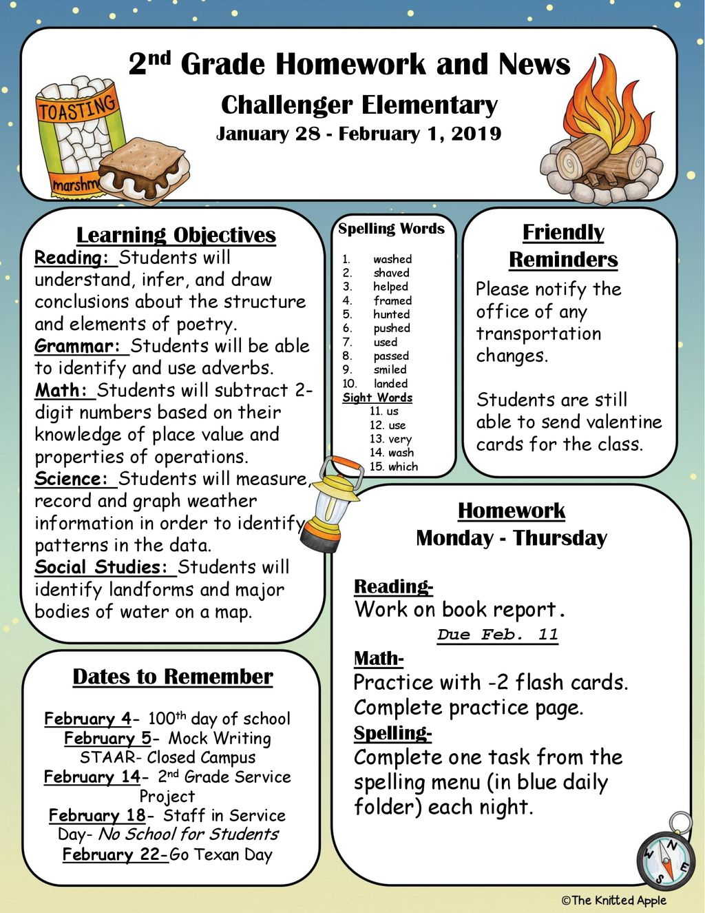 2nd Grade Homework and News - ppt download