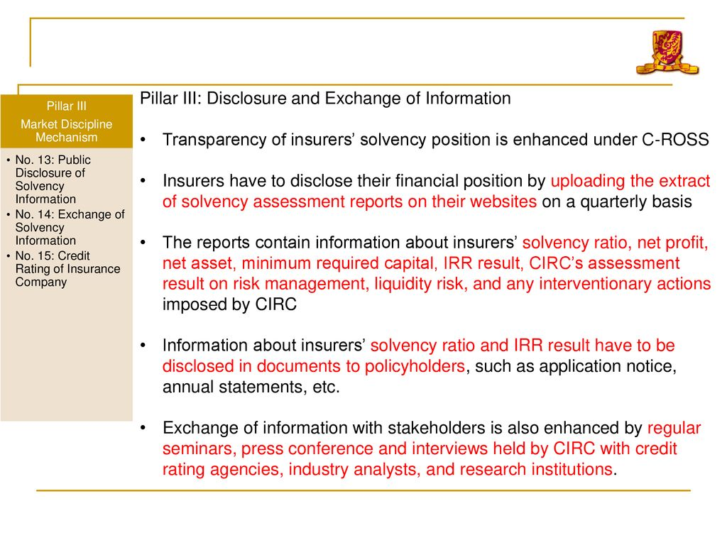 China Risk Oriented Solvency System Ppt Download