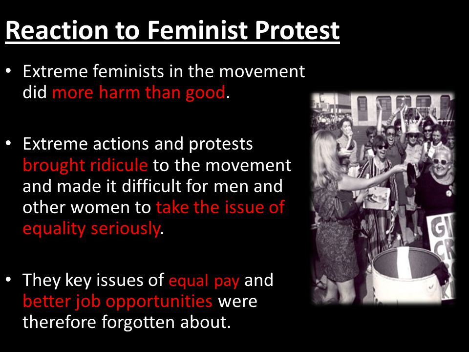 Reaction to Feminist Protest