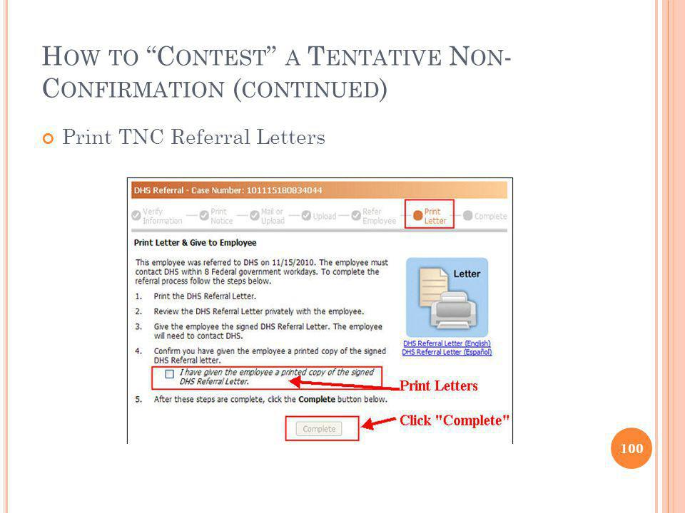 How to Contest a Tentative Non-Confirmation (continued)