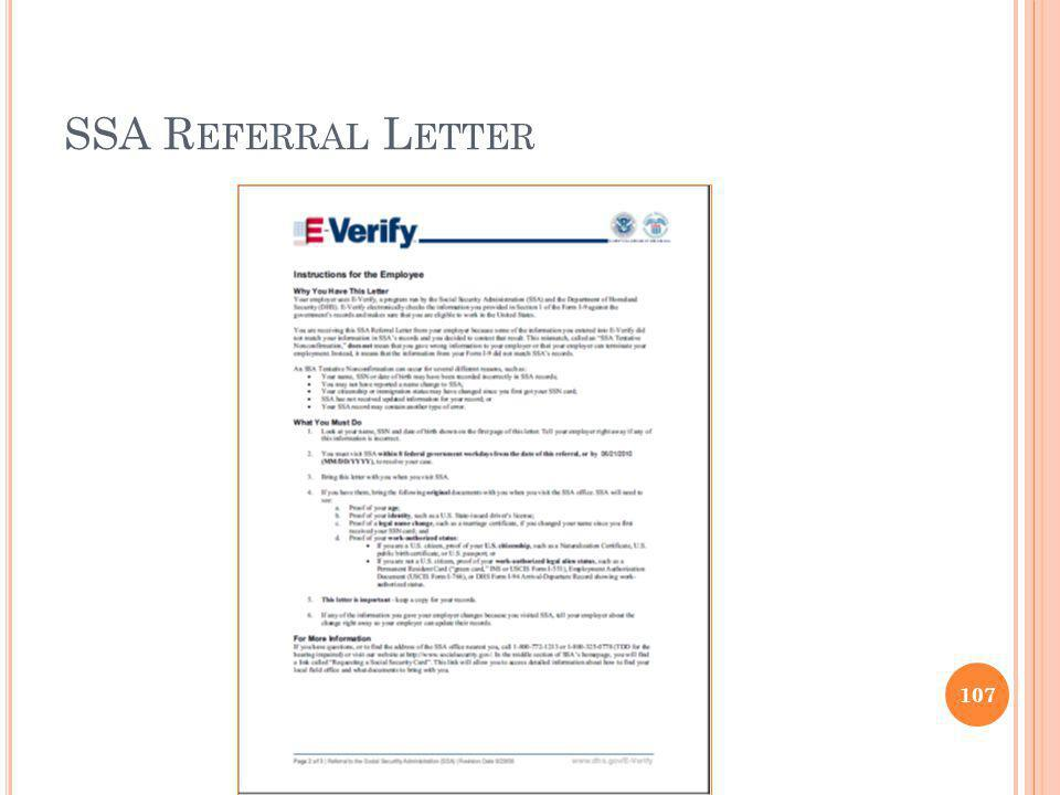 SSA Referral Letter