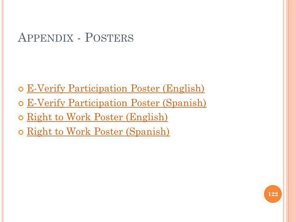 Appendix - Posters E-Verify Participation Poster (English)