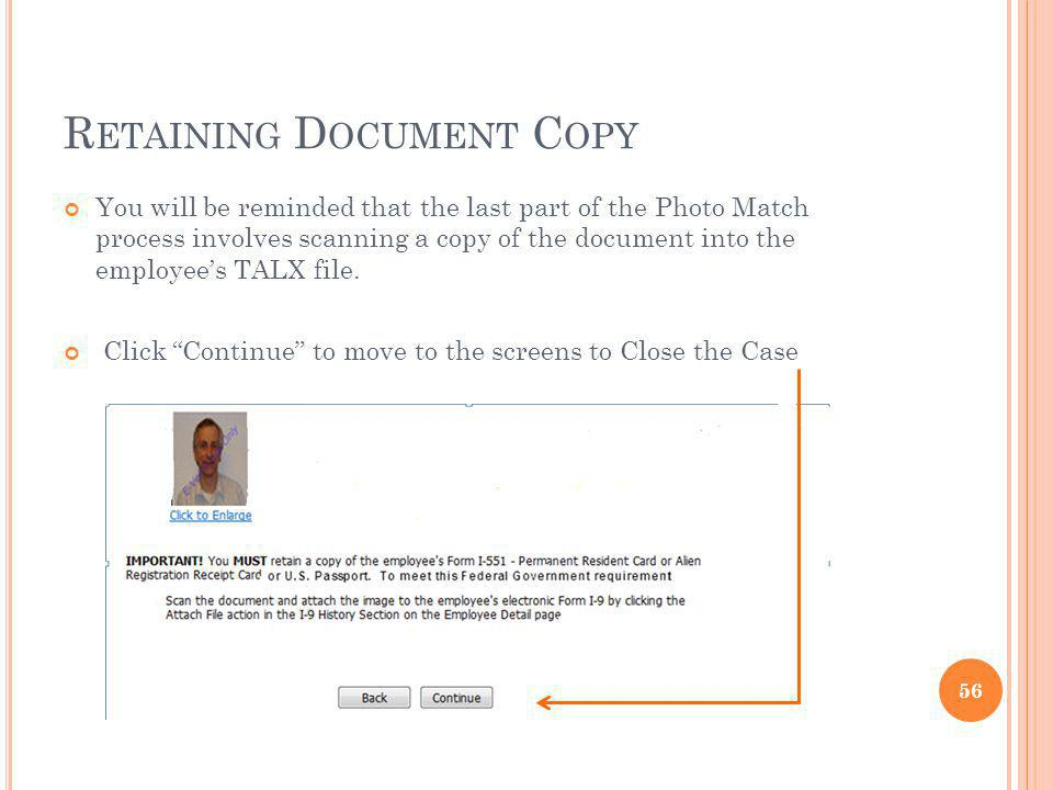 Retaining Document Copy