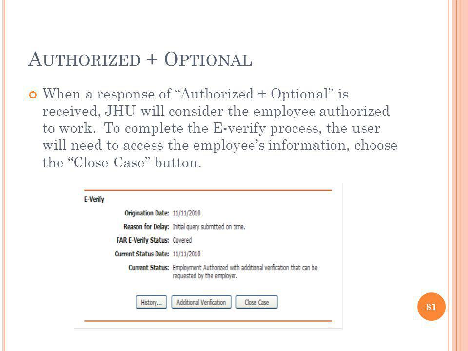 Authorized + Optional