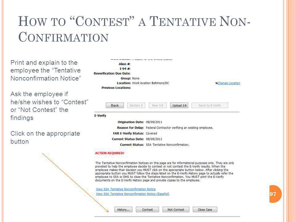 How to Contest a Tentative Non-Confirmation