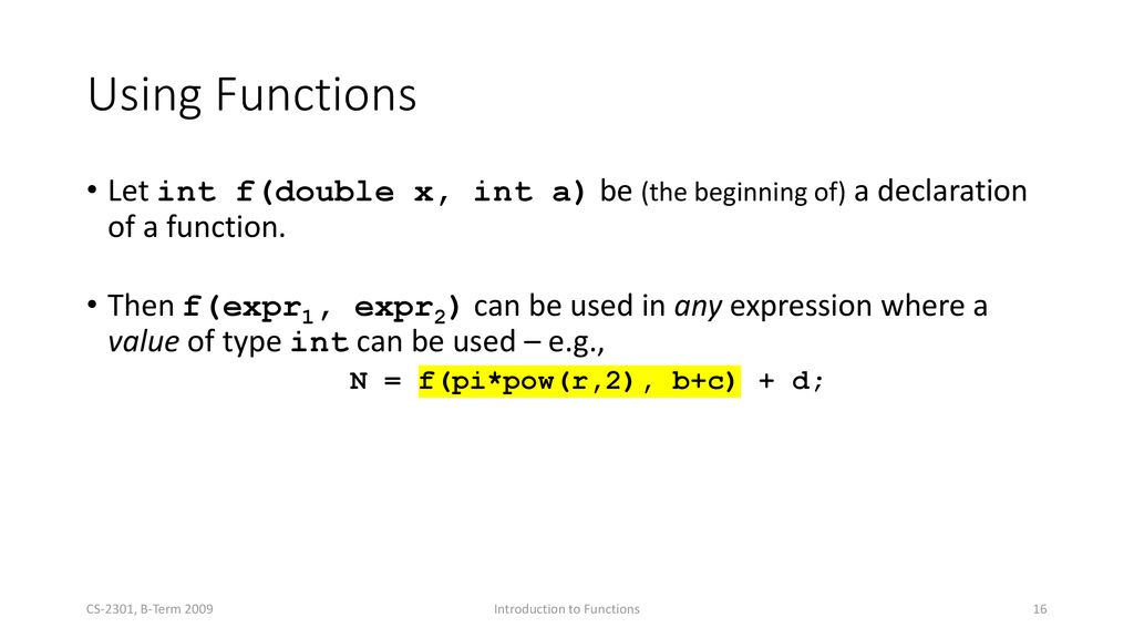Function  - ppt download