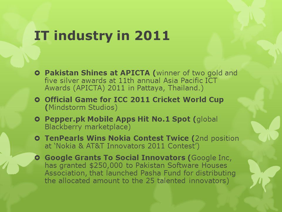 IT industry in 2011