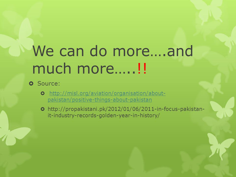 We can do more….and much more…..!!