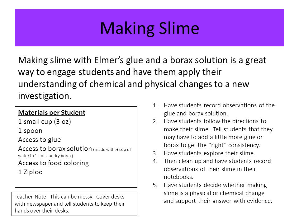 How Can The Properties Of Slime Change