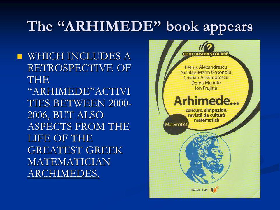 The ARHIMEDE book appears
