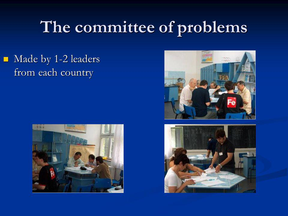 The committee of problems