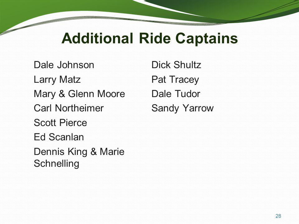 Additional Ride Captains