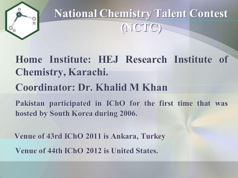 National Chemistry Talent Contest (NCTC)