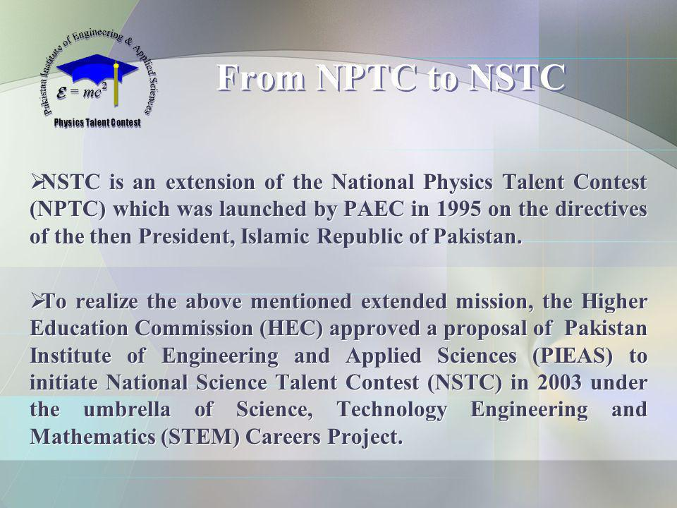 From NPTC to NSTC