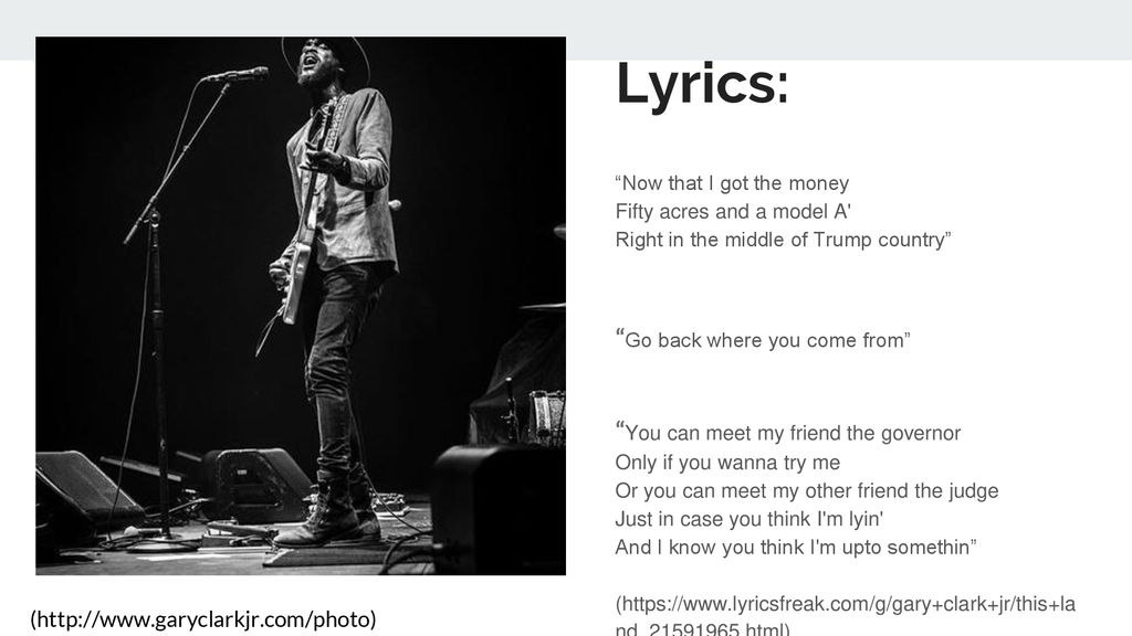 "This Land"" by Gary Clark Jr  - ppt download"