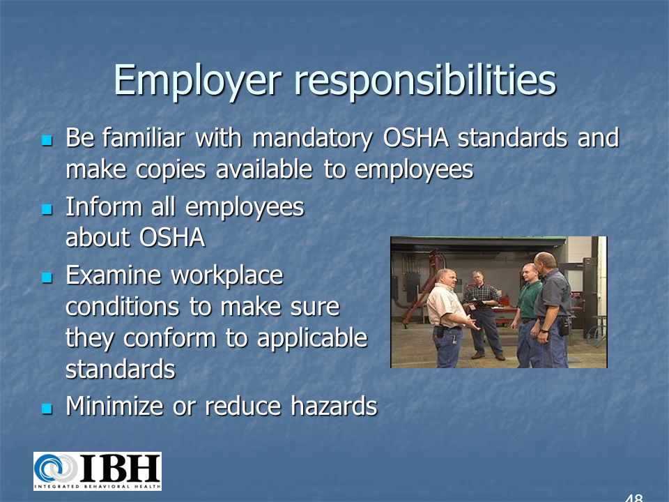 osha standards or the green movement Each chosen profession will have unique expectations which are important to both employee and employer professionals are looking for ways.