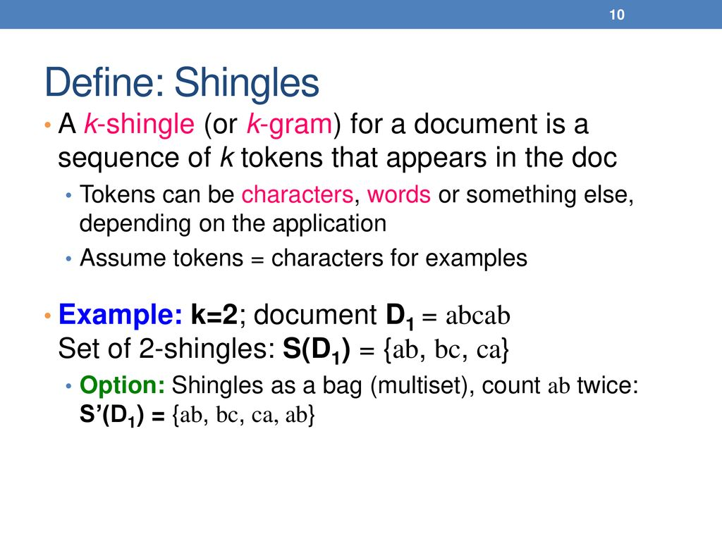 MIN-HASHING AND LOCALITY SENSITIVE HASHING LECTURE 3 - ppt