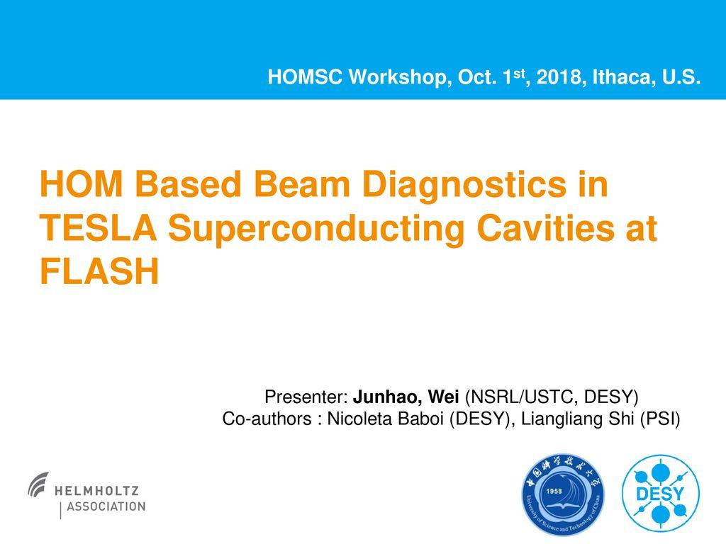HOM Based Beam Diagnostics in TESLA Superconducting Cavities at