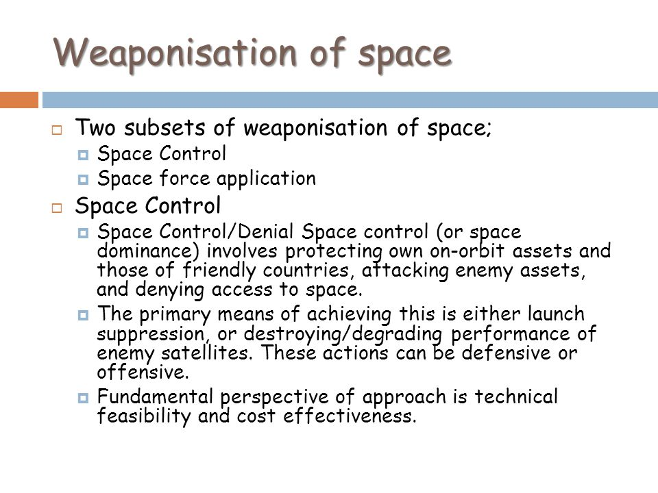 Weaponisation of space