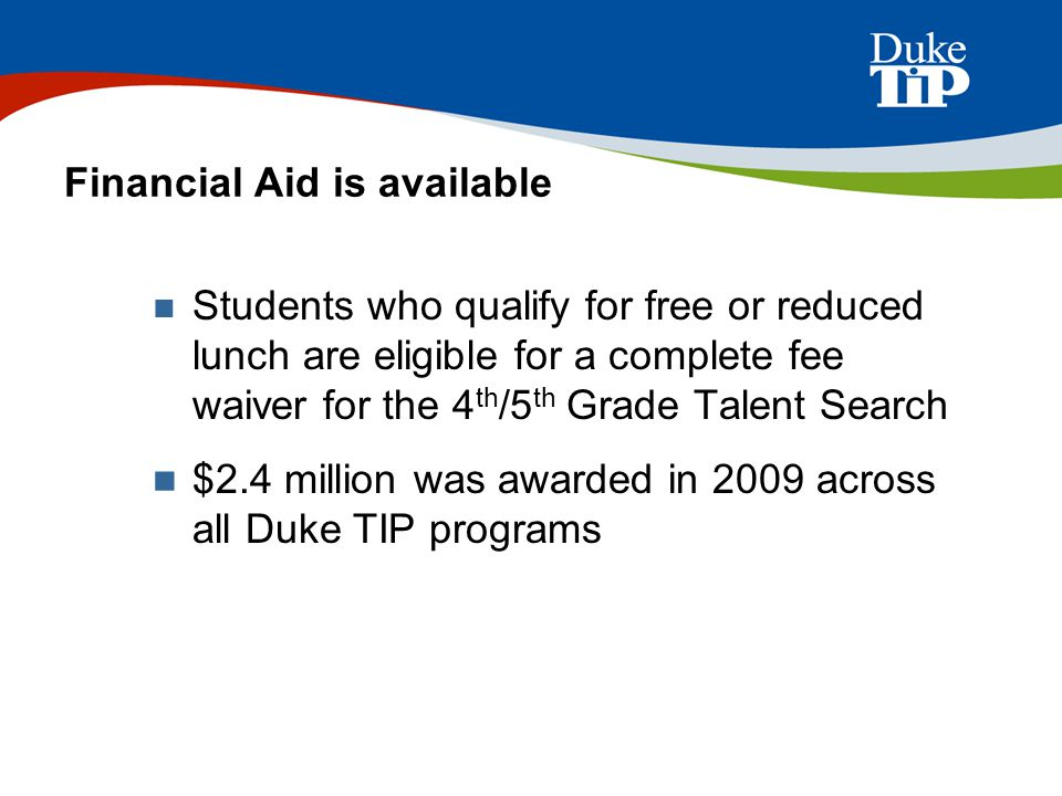Financial Aid is available