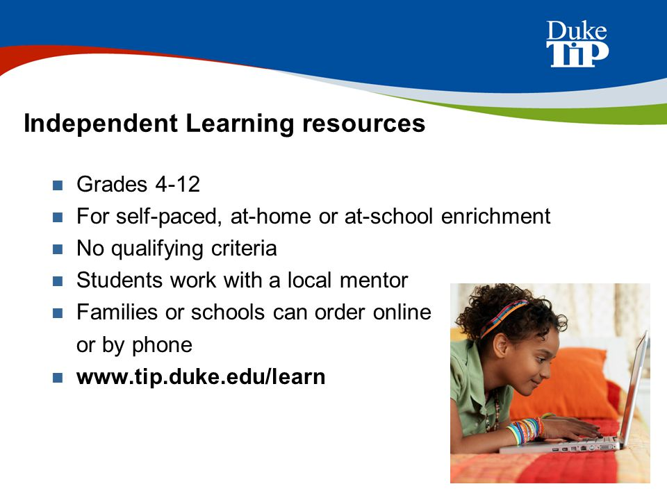 Independent Learning resources