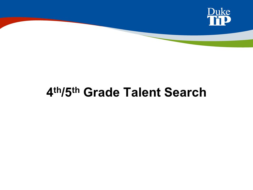 4th/5th Grade Talent Search