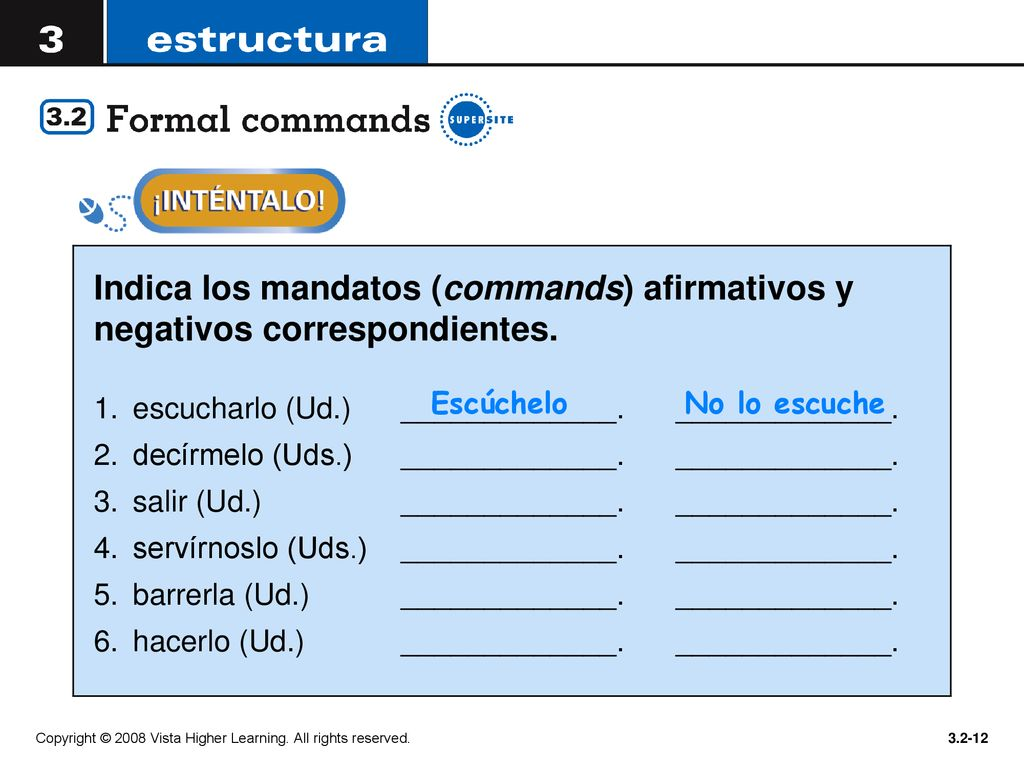 As You Learned In Lección 2 The Command Forms Are Used To