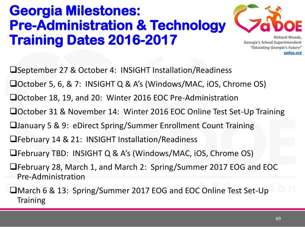 2016 Fall Assessment Conference Assessment Program Updates