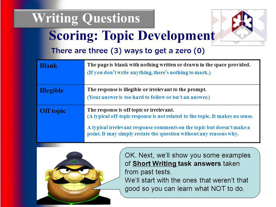 Scoring: Topic Development