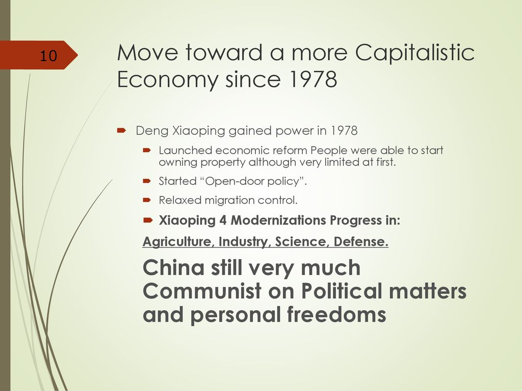 Communist Government And A Capitalist Economy Ppt Download