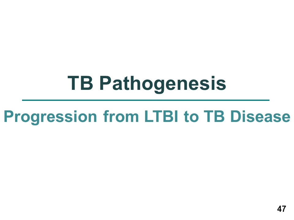Progression from LTBI to TB Disease