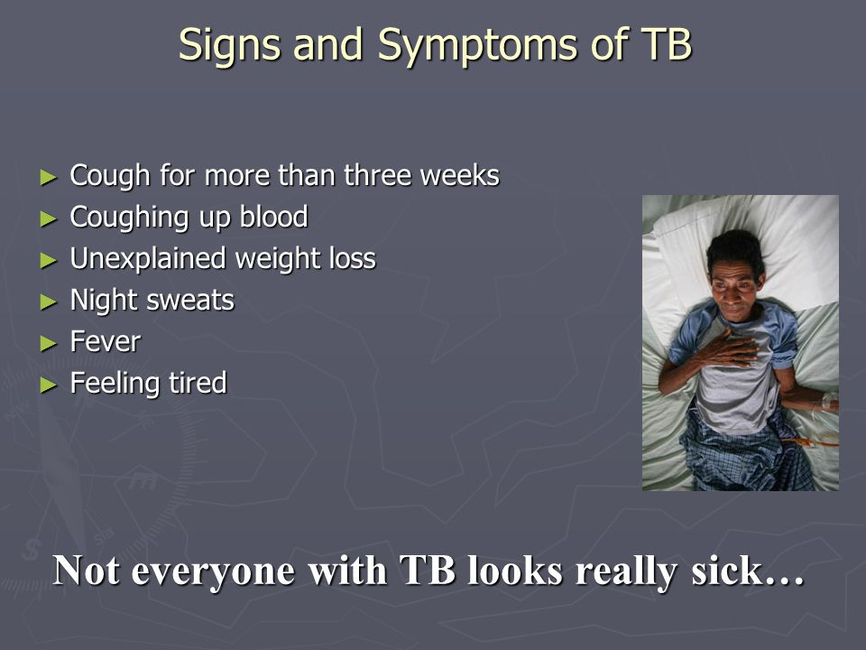 Signs and Symptoms of TB